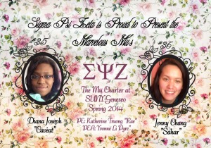 "Welcome to the Sisterhood Diana Joseph ""Cavéat"" #35 and Jenny Chang ""Sahar"" #36"